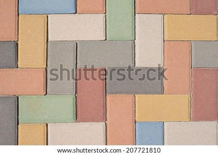 Paving stones pattern, background - stock photo