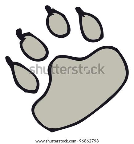 Cat Paw Cartoon - 0425