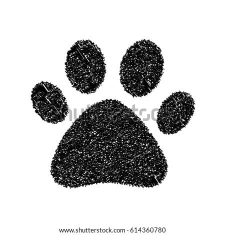 Red dog paw logo - photo#54