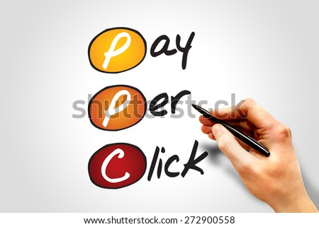 Pay per click PPC, business concept acronym - stock photo