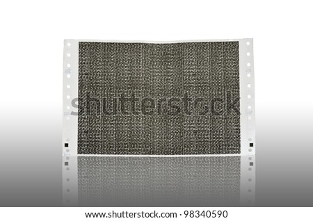 Pay slip paper reflection. Salary Slip paper. Carbon paper - stock photo