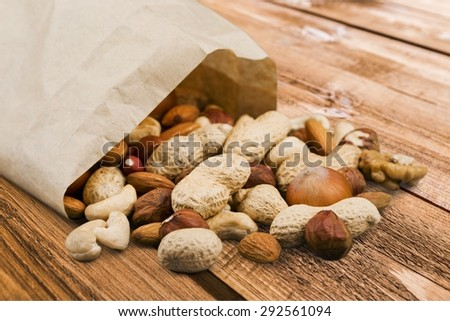 Paycheck, Peanut, Wages. - stock photo