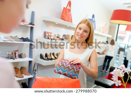 Paying at the till - stock photo