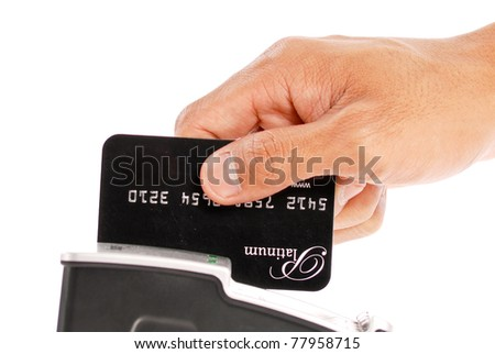 Paying By Credit - stock photo