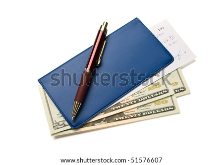 Paying the bills. - stock photo