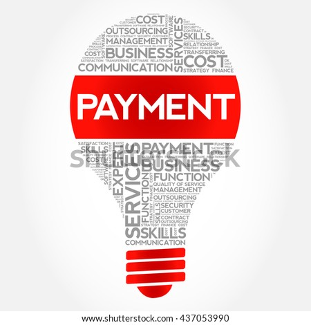 Payment bulb word cloud, business concept - stock photo