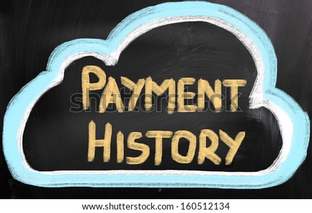 Payment History Concept - stock photo