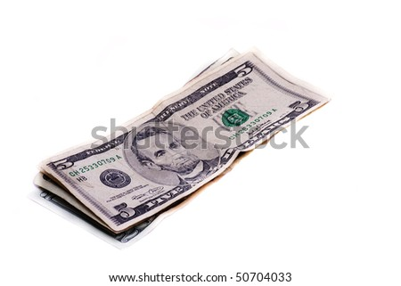 payment in cash in the store - stock photo