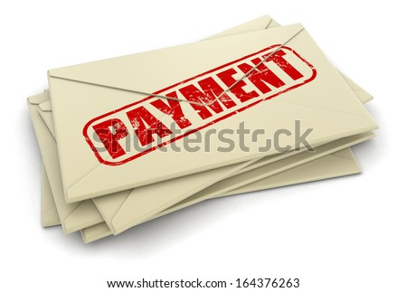 payment letters  (clipping path included)