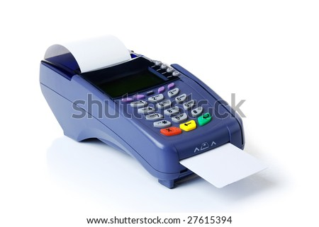 Payment on a credit card through the terminal