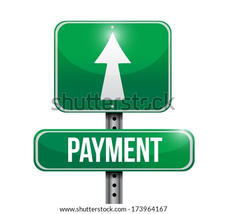 payment sign illustration design over a white background