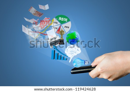 Payment with concept using smart phone - stock photo
