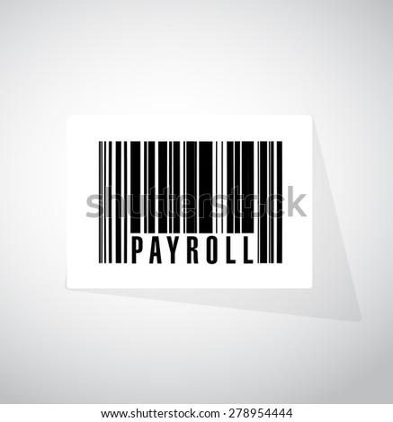 payroll barcode sign concept illustration design over white - stock photo