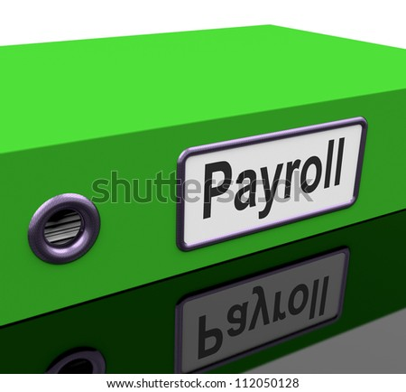 Payroll File Containing Employee Timesheet Records - stock photo