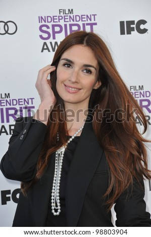 Paz Vega at the 2012 Film Independent Spirit Awards on the beach in Santa Monica, CA. February 25, 2012  Santa Monica, CA Picture: Paul Smith / Featureflash