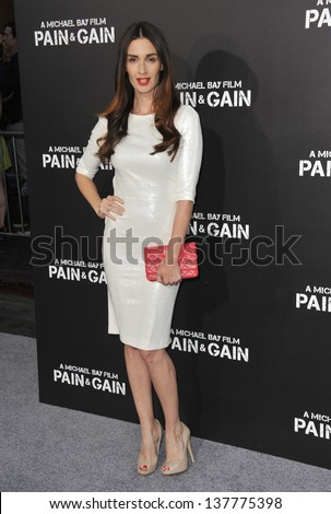 "Paz Vega at the Los Angeles premiere of ""Pain & Gain"" at the Chinese Theatre, Hollywood. April 22, 2013  Los Angeles, CA"