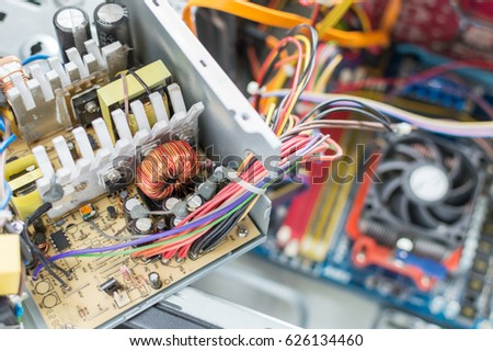 PC Power Supply Repair Stock Photo (Royalty Free) 626134460 ...