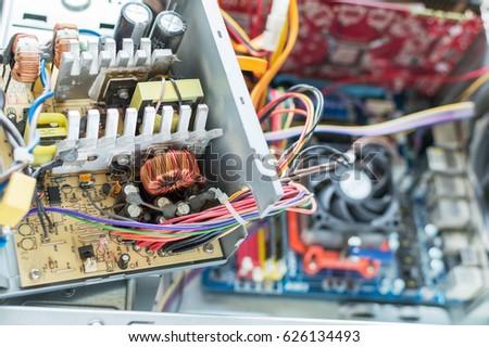 PC Power Supply Repair Stock Photo (Royalty Free) 626134493 ...