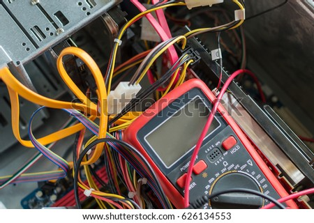 PC Power Supply Repair Stock Photo (Royalty Free) 626134553 ...