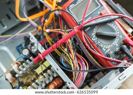 PC Power Supply Repair Stock Photo (Royalty Free) 626135099 ...