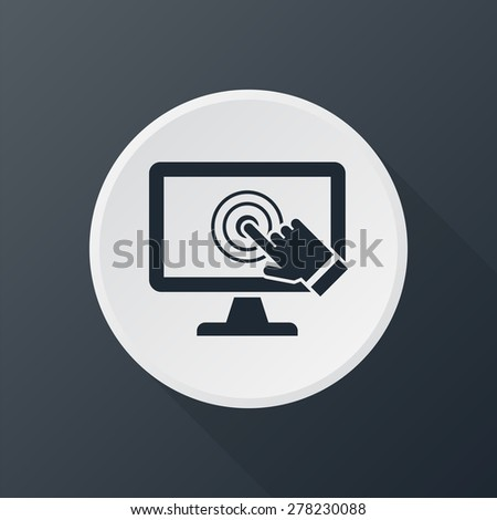 pc screen touch icon - stock photo