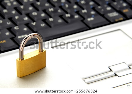 PC security concept, protection against various risks - stock photo