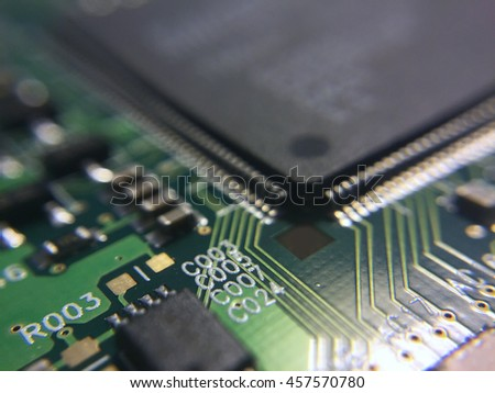 pcb detail with microchip