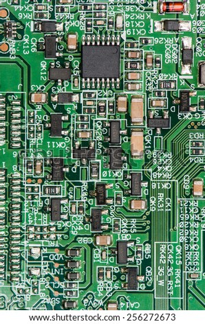 PCB (Printed Circuit Board) with different components