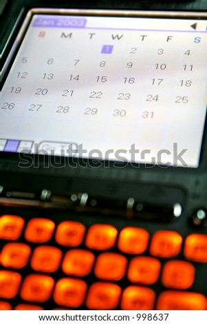 PDA Diary and Calender - stock photo