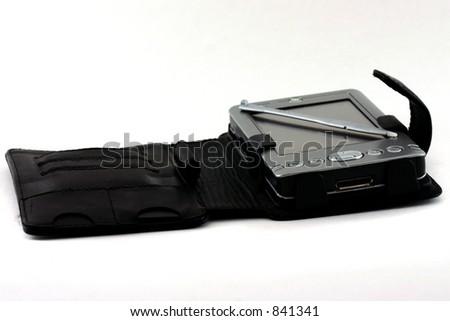 PDA in Case - stock photo