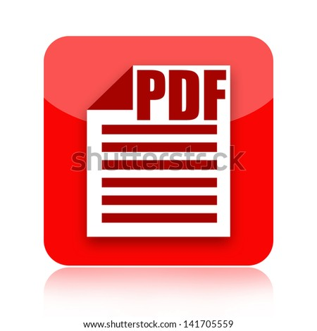 Pdf document file icon