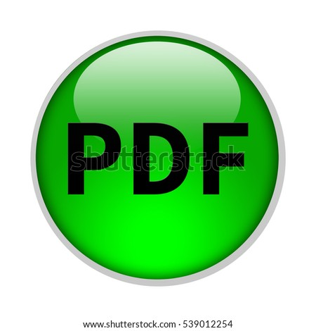 pdf icon. Internet button . 3d illustration