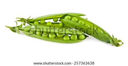 pea on a white background