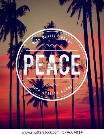 Peace Free Freedom Harmony Quite Solitude Zen Concept - stock photo
