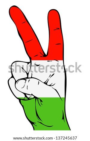 Peace Sign of the Hungarian flag