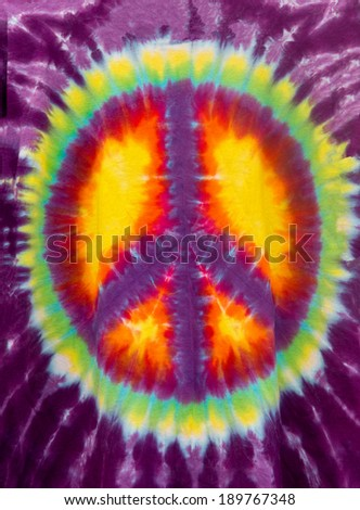 Peace Sign Tie Dye - stock photo