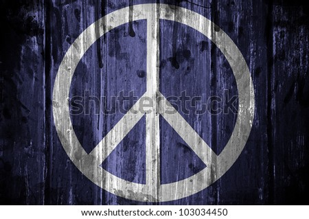 Peace symbol with grunge texture - stock photo