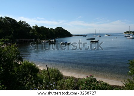 peaceful harbor - stock photo
