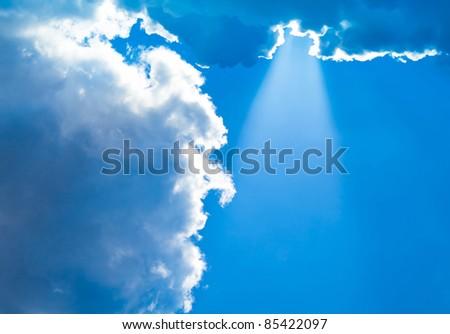Peaceful Heaven Natural Beauty Blue Heavens - stock photo