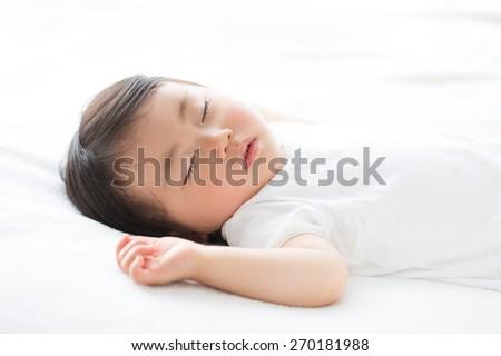 peaceful sleeping baby - stock photo