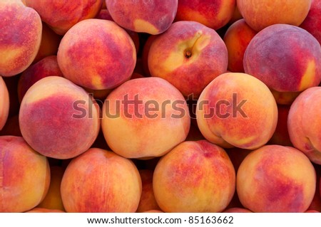 Peach close up. - stock photo
