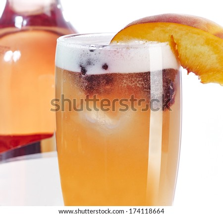 Peach fruity cocktail