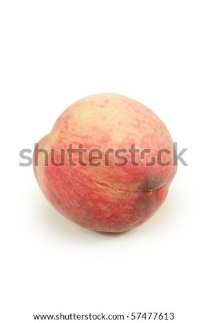 peach on white background - stock photo