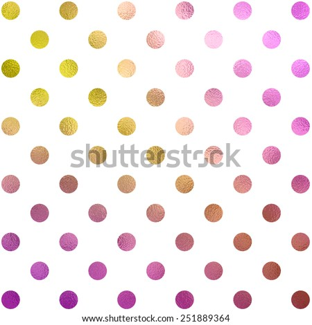 Peach Pink Gold Purple White Polka Dot Pattern Swiss Dots Texture Digital Paper Background - stock photo