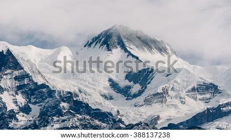 Peak in Nepal, Annapurna range - stock photo