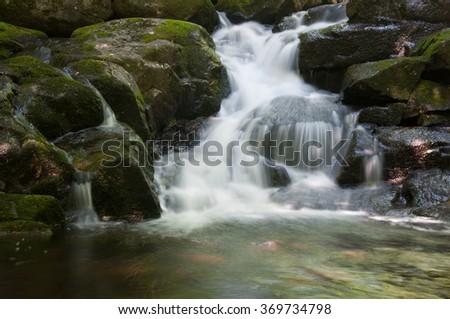 Peaked Mt Brook Adirondacks - stock photo