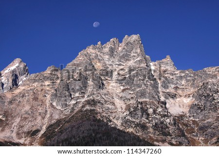 Peaks of GrandTeton mountain range