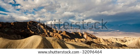 Peaks Panorama in Death Valley National Park, California. - stock photo