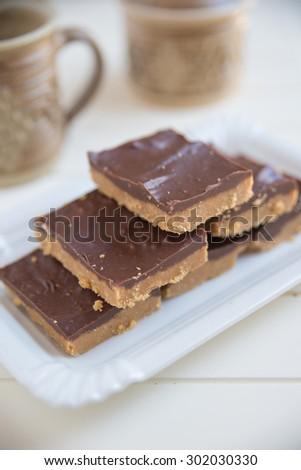 Peanut Butter chocolate cake - stock photo