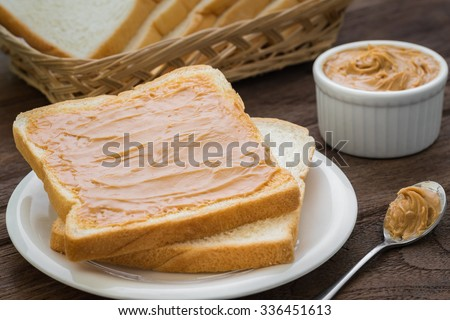 Peanut butter sandwich on plate